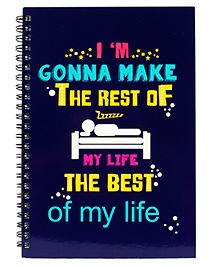 The Crazy Me My Life Print Spiral Notebook A5 Size - Royal Blue