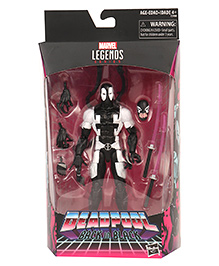 Marvel Legend Series Deadpool Action Character Toy With Accessories - Black