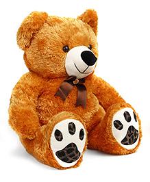 Liviya Teddy Bear With Printed Paw Soft Toy Brown - 82 Cm