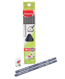 Maped Triangular Graphite Pencil With Eraser - Pack Of 10