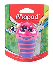 Maped Croc Croc Caterpillar Shape Sharpener - Pink
