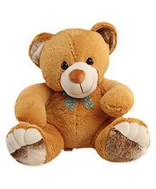 Liviya Sitting Teddy Bear Soft Toy Light Brown - Height 32.5 Cm