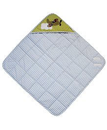 Abracadabra Quilted Hooded Wrapper Vehicle Print - Blue & White
