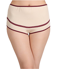 Clovia Cotton High Waist Maternity Hipster - Tan Brown
