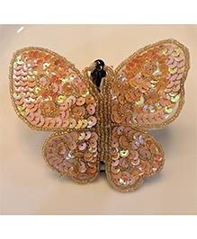 Many Frocks & Big Butterfly Clip - Golden