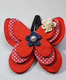 Sugarcart Multi Layered Butterfly Clip - Red