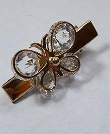 Sugarcart Diamond Studded Butterfly Clip - Golden