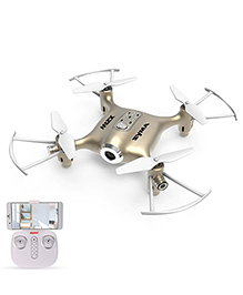 Toyhouse Syma X21W Wifi FPV Mini Drone With Camera Live Video LED Nano Pocket RC Quadcopter With GYRO App Control, Golden