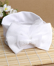 Babyhug Netted Bow Applique Headband - White