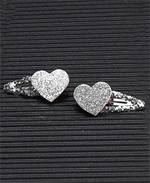 Babyhug Glittery Snap Clips Pack Of 2 - Silver