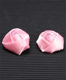 Babyhug Hair Pins Rose Design Pack 2 - Light Pink