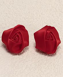 Babyhug Hair Pins Rose Design Pack 2 - Red