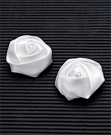 Babyhug Hair Pins Rose Design Pack 2 - White