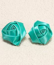 Babyhug Hair Pins Rose Design Pack 2 - Green