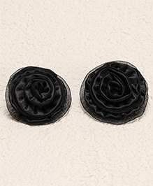 Babyhug Alligator Hair Clip Rose Shape Pack Of 2 - Black