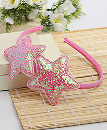Babyhug Hair Band Star Applique - Light Pink