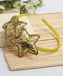 Babyhug Hair Band Star Applique - Yellow