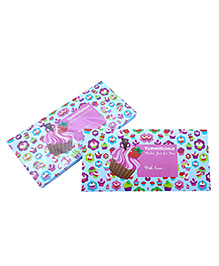 Baby Oodles Gift Envelope Cupcake Print Purple & Green - Pack Of 6