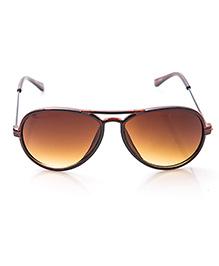 Kidofash Aviator Sunglasses With Hard Case - Brown