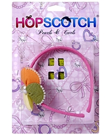 Hopscotch - Multi Coloured Hair Band With Pearls
