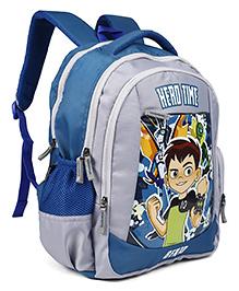 Ben 10 School Bag Grey & Blue - 16 Inches