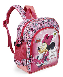 Disney School Bag Minnie Mouse Print Pink - 10 Inches - 1981524