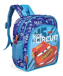 Disney Pixar Car School Bag Friends Print Blue - Height 10 Inches