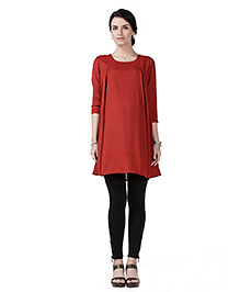 Innovative Maternity Tunic Top - Red