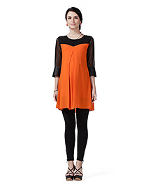 Innovative Maternity Tunic Top - Orange