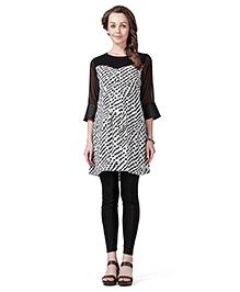 Innovative Maternity Tunic Top - Black & White