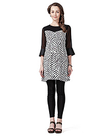 Innovative Maternity Tunic Top - Black & White