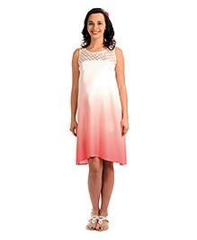 Innovative Lace Maternity Casual Dress - Pink