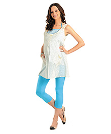 Innovative Maternity Tunic Top - White