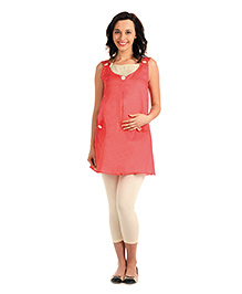 Innovative Maternity Tunic Top - Pink