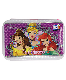 Funcart Lunch Box Disney Princess Print - White Pink