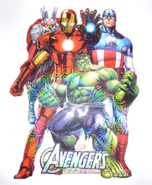 Funcart Avenger Assemble Room Decor Wall Sticker - Multicolour