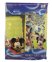 Funcart Mickey Mouse & Friends Stationery Box Gift Set Yellow - 7 Pieces