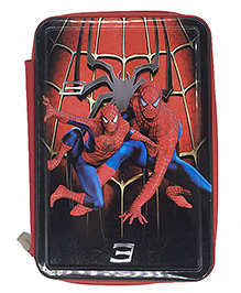 Funcart Spiderman Two Side Zippered Pencil Box - Red