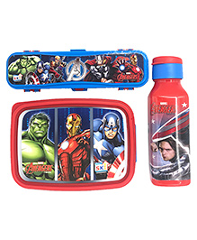 Funcart Avengers Themed Lunch Box Combo Set - Red & Blue