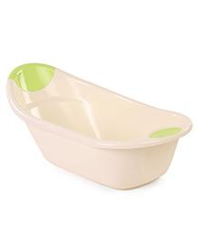 Baby Bath Tub Teddy Bear Print - Cream & Green
