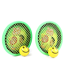 Ratnas Fun Shot Hand Tennis Set- Green Yellow