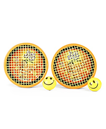 Ratnas Mini Fun Shot Hand Tennis Game - Orange Yellow