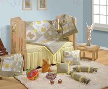 Swayam - 7 Piece Baby Crib Bedding Set Grey