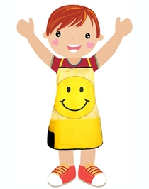 Swayam - Digitally Smiley Printed Kids Apron