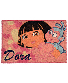 Saral Home Dora Theme Heavy Duty Coir Door Mat - Pink