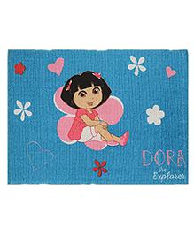 Saral Home Dora Multipurpose Cotton Printed Rug - Blue
