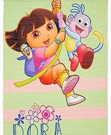 Saral Home Dora Multipurpose Theme Polyester Rug - Green Pink