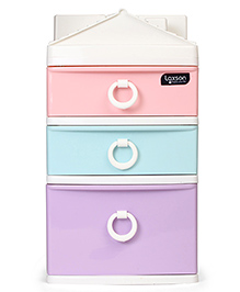 3 Drawer Multipurpose Storage Unit - Multicolor