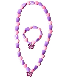 Hopscotch - Heart Shaped Beads Necklace And Bracelet