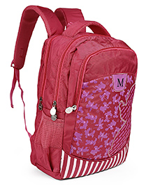 Disney Minnie Mouse Print School Bag Pink - Height 17.3 Inches